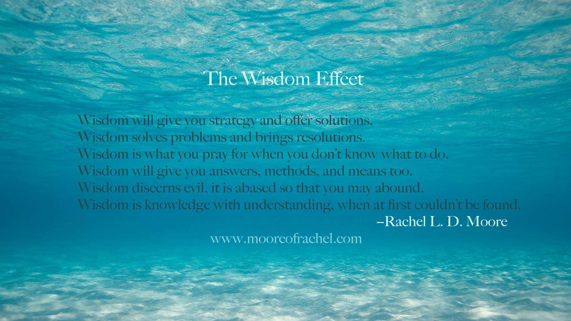 Wisdom Effect poem