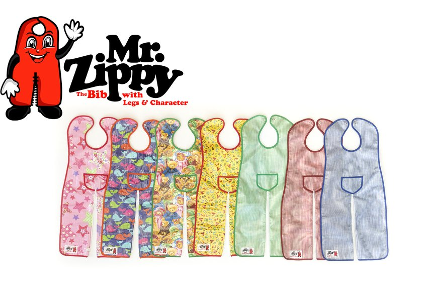 mooreofrachel mr. zippy bib Baby Gifts best baby shower gifts coverall bib the bib with legs and character