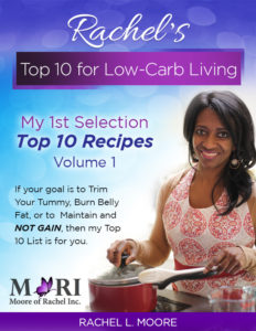 Rachel's Top 10 Recipes for Low-Carb Living - Volume 1.    This first selection of recipes has been tested and tasted by Rachel and family.  They are guaranteed to please your taste buds and tummy!